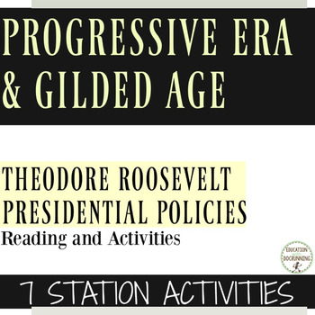 Progressive Era Activity Theodore Roosevelt 7 Activities