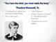 Theodore Roosevelt PowerPoint Part One