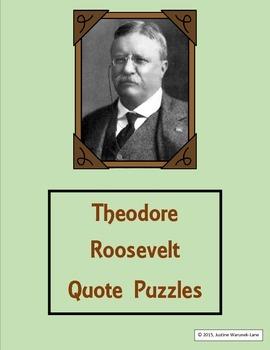 Theodore Roosevelt Quote Puzzles