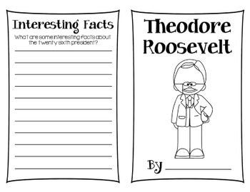 Theodore Roosevelt Research Book Freebie