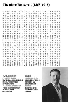 Theodore Roosevelt Word Search