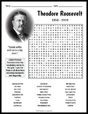 Theodore Roosevelt Word Search Worksheet
