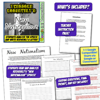 Theodore Roosevelt and New Nationalism: Analyze & Write Roosevelt A Letter!