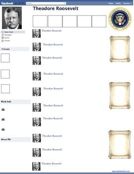 Theodore teddy roosevelt presidential fakebook template by make theodore teddy roosevelt presidential fakebook template pronofoot35fo Gallery