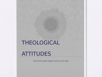 Theological Attitudes- Religion