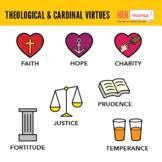 Theological and Cardinal Virtues Clip Arts