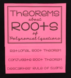 Theorems about Roots of Polynomial Equations (Algebra 2 Foldable)