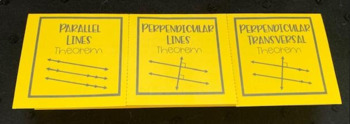 Theorems involving Parallel and Perpendicular Lines- Geometry Foldable