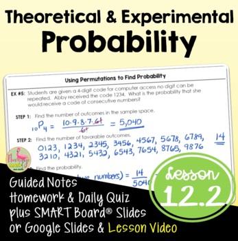 Algebra 2: Theoretical and Experimental Probability