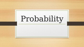 Theoretical & Experimental Probability Notes - PPT