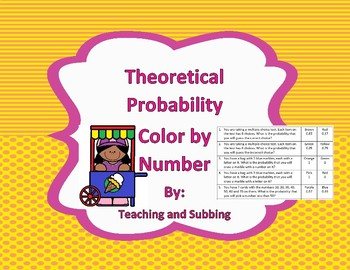 Theoretical Probability Color by Number
