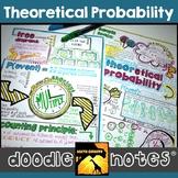 Theoretical Probability Doodle Notes Set