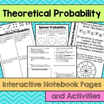 theoretical probability interactive notebook pages tpt. Black Bedroom Furniture Sets. Home Design Ideas