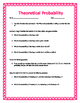 Theoretical Probability w/ Answer Key