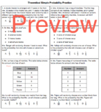 Theoretical Simple Event Probability Worksheet