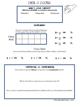 Discovery Activity: Theoretical Vs. Experimental Probability