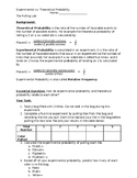 Theoretical and Experimental Probability Investigation--Ti