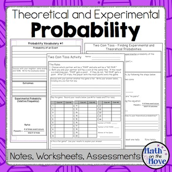 Probability - Theoretical/Experimental - Notes, Activities, Practice ...