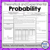 Probability - Theoretical/Experimental - Notes, Activities