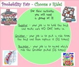 "Theoretical and Experimental Probability Smartboard with a  fun ""Fair"" Theme"