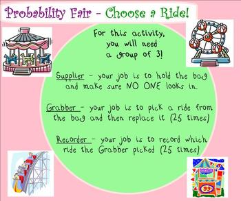 """Theoretical and Experimental Probability Smartboard with a  fun """"Fair"""" Theme"""