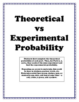Dollar Deal!  Theoretical vs Experimental Probability Activity
