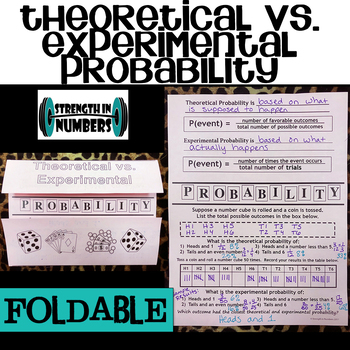 Theoretical vs. Experimental Probability Foldable Notes for Interactive Notebook