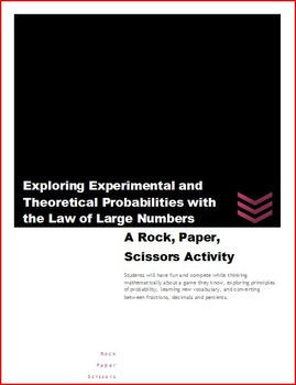 Theoretical vs. Experimental Probability with Rock, Paper,