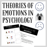 Theories of Emotion in Psychology: Powerpoint, Notes Sheet & Activity