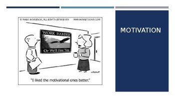 Theories of Motivation PowerPoint with funny/great visuals