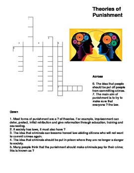 Theories of Punishment Crossword