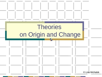 Theories on Origin and Change Evolution PowerPoint Presentation Lesson