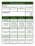 Theory Assessment Rubric for Music Ensembles