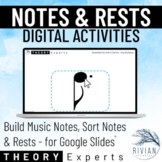 Theory Experts: Note & Rest Activity - Build Notes, Sort N
