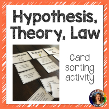 Theory, Hypothesis, and Law Card Sorting Activity