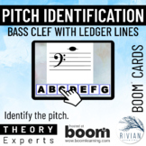 Theory Masters: Bass Clef Ledger Line Pitches - Boom Cards™