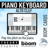 Theory Experts: Keyboard Identification Alto Clef Boom Cards™