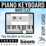 Theory Experts: Keyboard Identification Bass Clef Boom Cards™