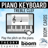 Theory Experts: Keyboard Identification Treble Clef Boom Cards™