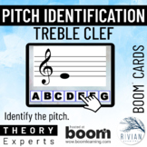 Theory Masters: Treble Clef Pitches - Boom Cards™