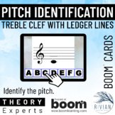 Theory Masters: Treble Clef Ledger Line Pitches - Boom Cards™
