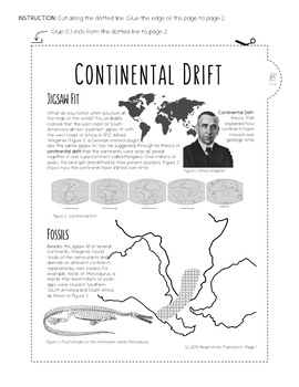 Theory of Continental Drift Reading Passages and Comprehension Questions