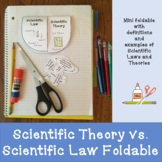 Scientific Theory vs. Scientific Law Foldable