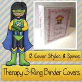Therapist Binder COVERS: Speech & Language, Occupational Therapy, and PT