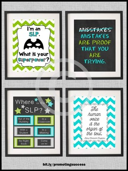 SLP Decorations, Speech Pathologist Posters, Office Door Sign Gift Ideas