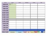 Therapist Schedule OT/PT/SLP