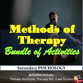 Therapy Bundle of Activities -Brochure, Gallery Walk, Skit, Case Studies Review