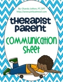 Therapy Daily Communication Sheet