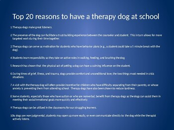 Therapy Dog Proposal