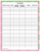 Therapy Planner 2016-2017 School Based Therapists Pink Green
